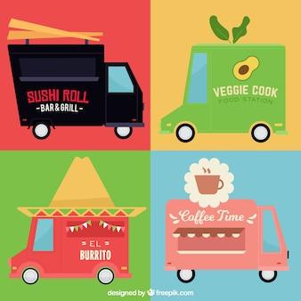 Des logos de camions alimentaires amusants avec un style charmant