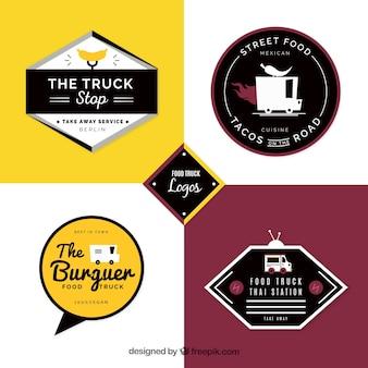 Logos de camions alimentaires avec style moderne