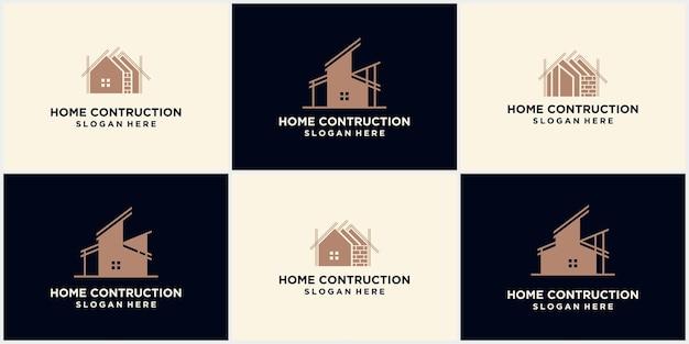 Logos de construction de maisons, logos d'entreprises immobilières modernes, illustrations vectorielles de logos créatifs pour agences de construction, développement architectural, immobilier, design d'intérieur, etc.