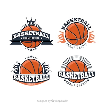 Logos du tournoi de basket-ball vintage