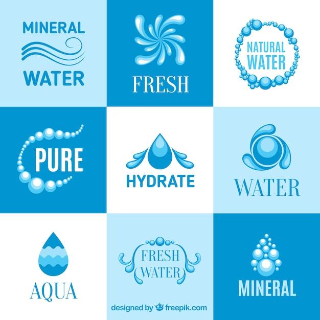 Logos d'eau minérale