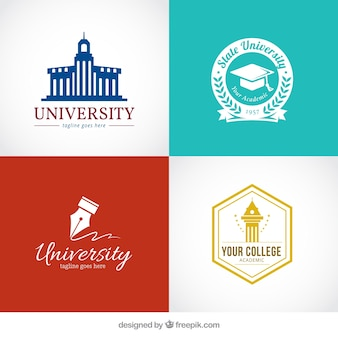 Logos élégants pour l'université
