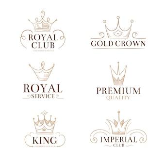 Logos et étiquettes vectorielles vintage princesse