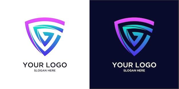 Logos g de couleur dégradée