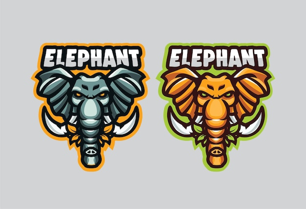 Logos d'illustration d'éléphant pour toutes sortes de marques