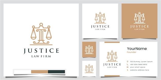 Logos de justice juridique, cabinets d'avocats, cabinets d'avocats, services d'avocat, avec des symboles simples et élégants, inspiration de conception de logo