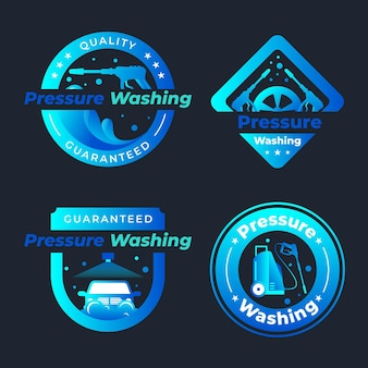 Logos de lavage à pression détaillés