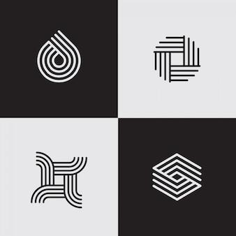 Logos de ligne modernes. formes géométriques créatives.