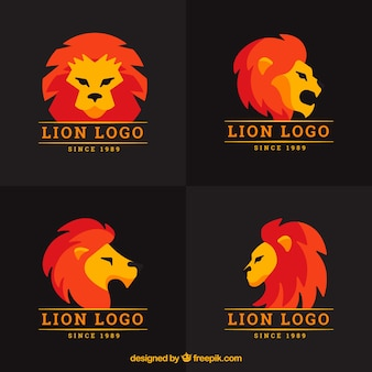 Logos lion, couleur complète