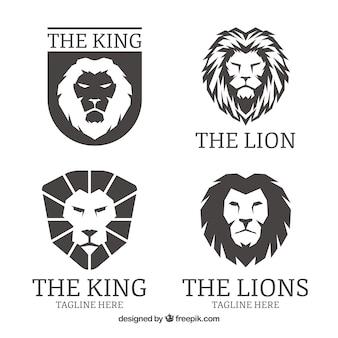 Logos lion, couleur noire