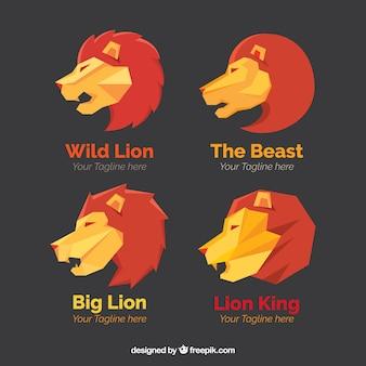 Logos lion, style polygonale