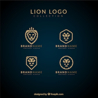 Logos lion, style simple