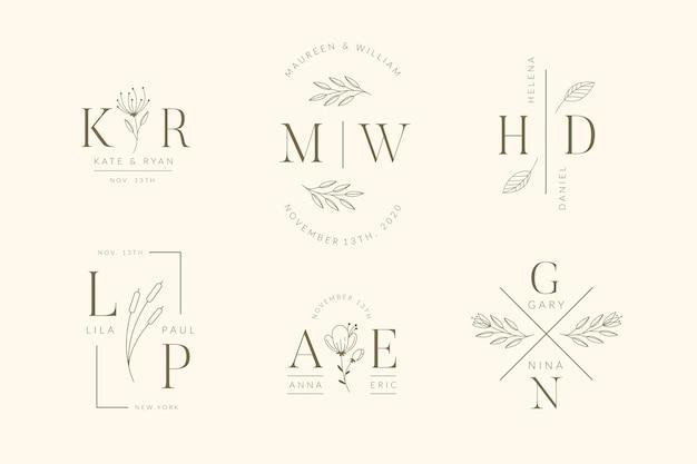 Logos de mariage élégants