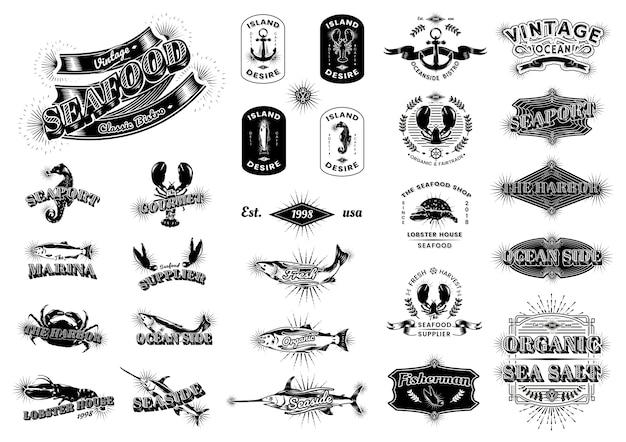 Logos marins vintage