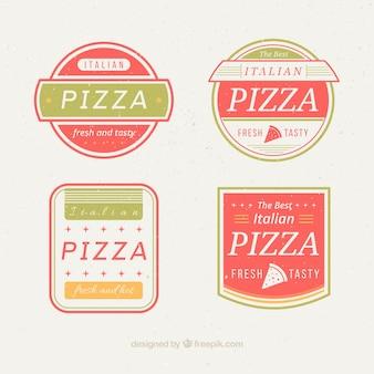 Logos mignon encadrées pour la pizza