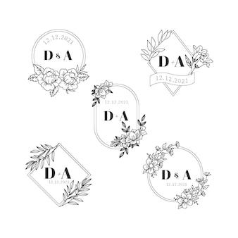 Logos de monogramme de mariage