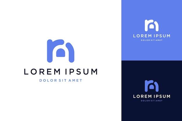 Logos ou monogrammes de conception moderne ou initiales rn avec les doigts