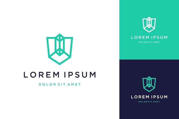 Logos ou monogrammes de conception unique ou lettres initiales v avec cristaux