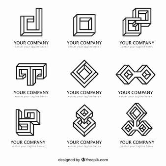 Logos monoline en style géométrique