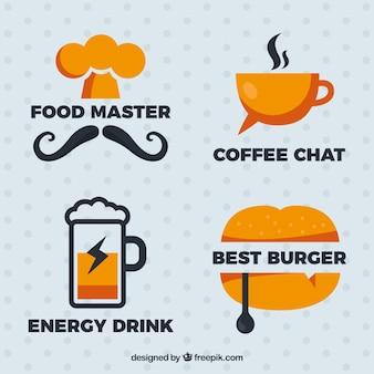 Logos noir et orange pour les restaurants