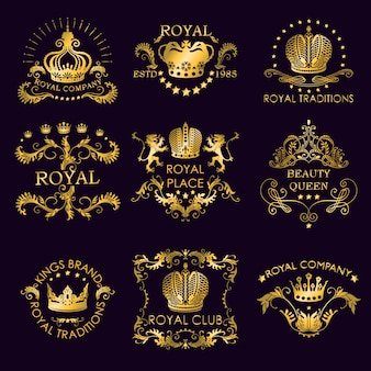 Logos d'or des traditions royales