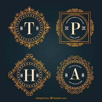 Logos oranamental avec des lettres