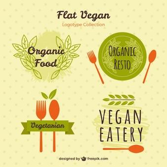 Logos peints à la main pour la nourriture végétarienne
