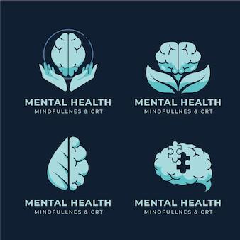 Logos plats de santé mentale