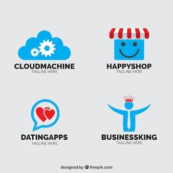 Logos pour différents types d'entreprises