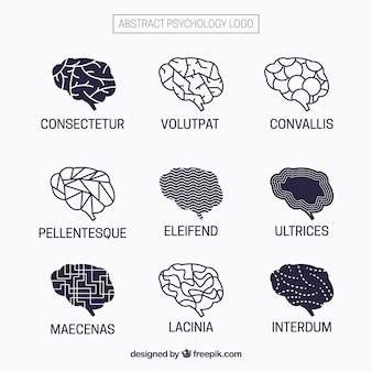 Logos de psychologie avec des dessins abstraits