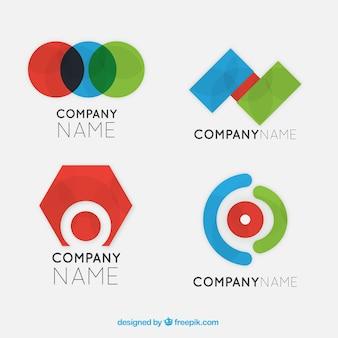 Logos de psychologie avec des formes géométriques colorées