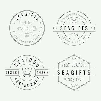 Logos de restaurant de fruits de mer
