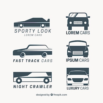 Logos rétro de collecte de voitures