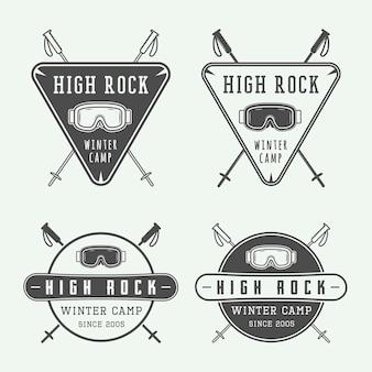 Logos de snowboard ou de sports d'hiver