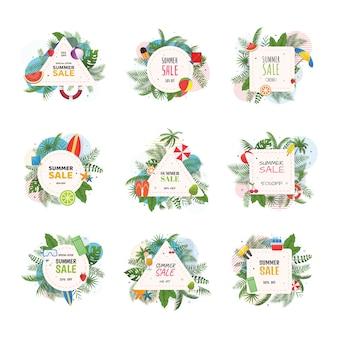 Logos de soldes d'été