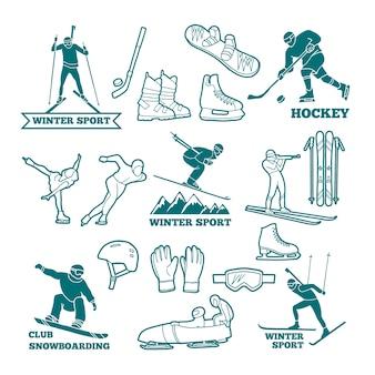 Logos de sports d'hiver
