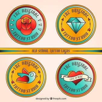 Logos de tatouage rondes