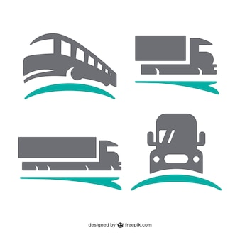 Logos de transport mis en