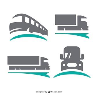 Logos de transport mis en
