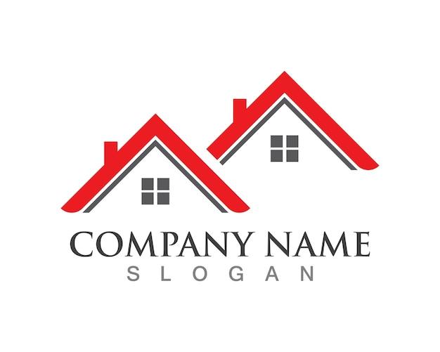 Logos de vecteur immobilier