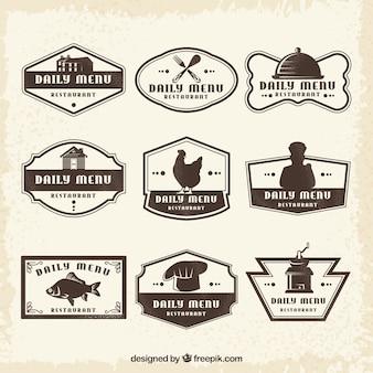 Des logos vintage pour les restaurants classiques