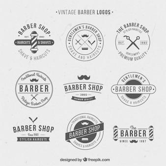 Logos vintage pour salon de coiffure