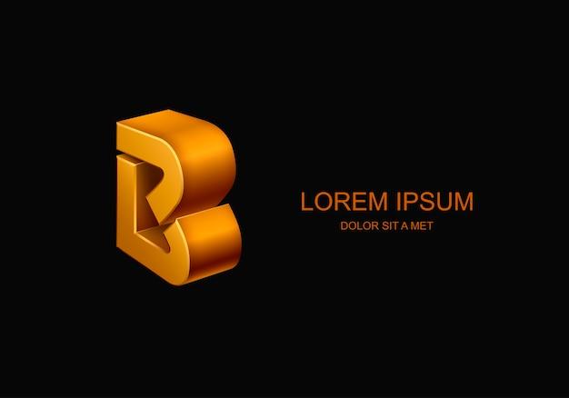 Logotype 3d sous la forme de la lettre