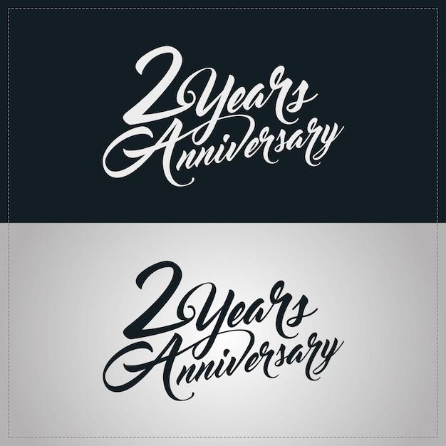 Logotype de célébration de 2 ans