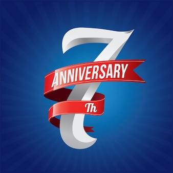 Logotype de célébration d'anniversaire.
