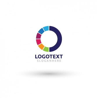 Logotype circulaire colorful
