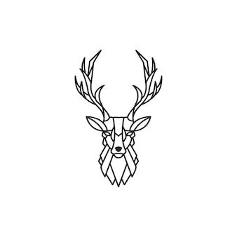 Logotype du cerf monoline