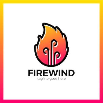 Logotype fire three wind.