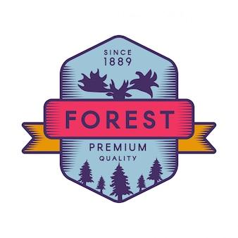 Logotype de forêt