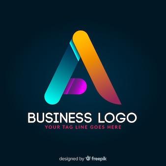 Logotype géométrique coloré rougeoyant dégradé